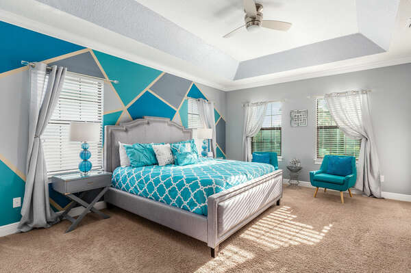 Master suite located on the second floor