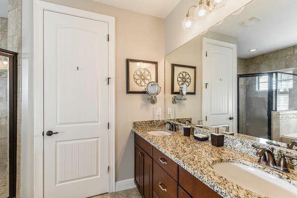 En-suite bathroom with dual vanity