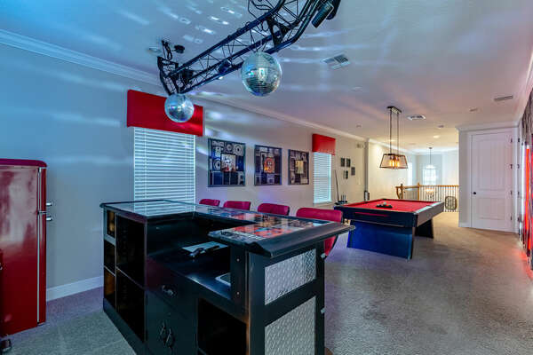 Rock out in the super cool loft area.