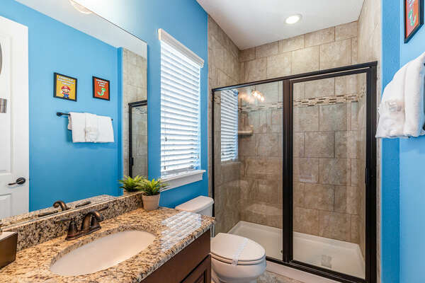 Ensuite bathroom for the kids to use and get ready for the day