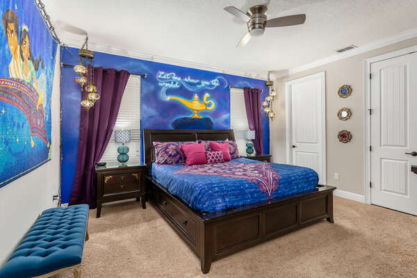 """Sleep soundly in the first-floor master suite inspired by magical """"Arabian Nights"""""""