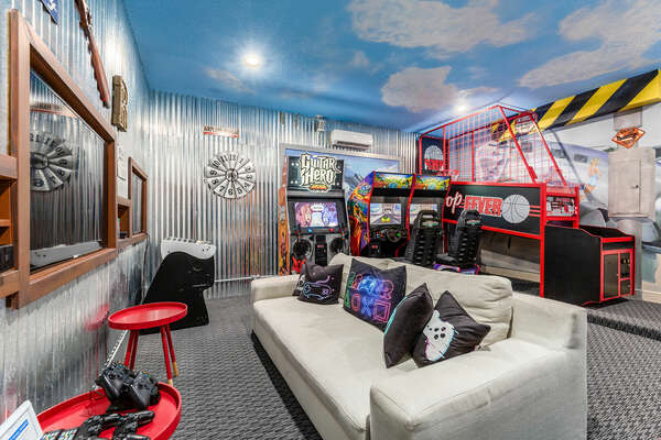 Channel your sporty side with the basketball arcade