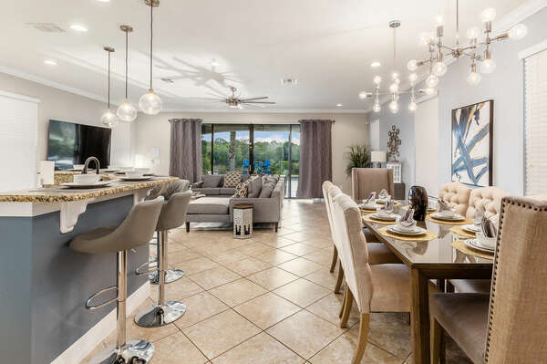 Modern and luxurious furnishings throughout
