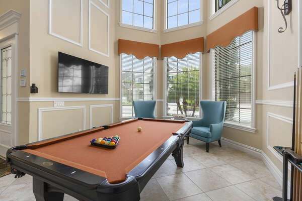 Teaching young family members pool in your own billiard area is a great activity