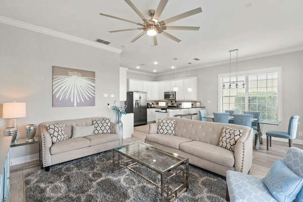 Ample seating to gather the family around