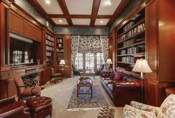 Library. The owner of this home had lived here for 20 years and is an avid reader. He left his massive collection of books for guests to enjoy since he's already read them. 70