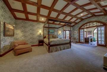 Master bedroom has a King, 2 refrigerator drawers and custom ceiling.  Bedroom 1