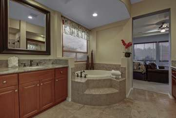 Master bath suite with huge walk in tub