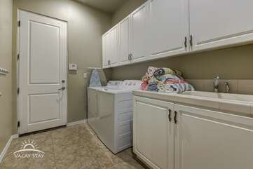 Washer/Dryer comes with plenty of laundry detergent for your convenience