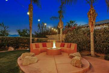 Fire pit seating for 15+ !