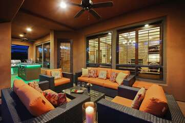 There are no mosquitos in the desert so this covered outdoor living area is a favorite
