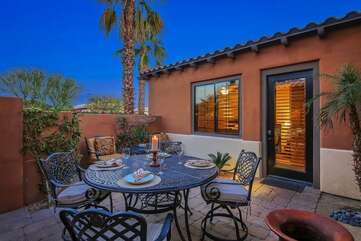 Front gated courtyard with separate access to the casita