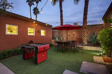 Delight in some dinning al fresco on the outdoor patio table.