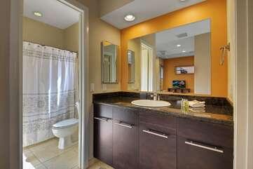 Private en suite bath.