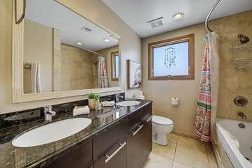 Hallway full bathroom near Bedroom 4.