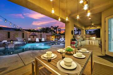 Outdoor dining for 6 to 8 people