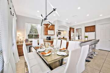 Indoor dining for up to 12 at the same table!