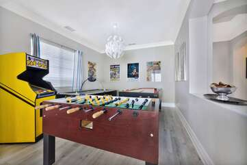 The Cancun game room has it all!
