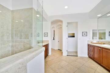The master shower is enormous