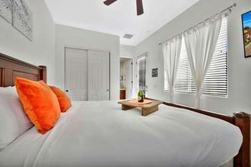 The casita bedroom has it's own separate access for privacy