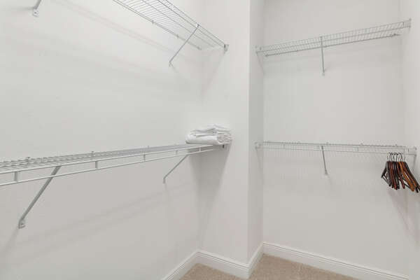 Great extra storage space walk-in closet