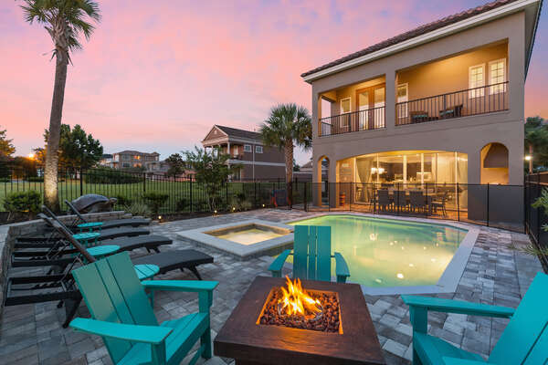 Sit back and relax by the outdoor fire pit