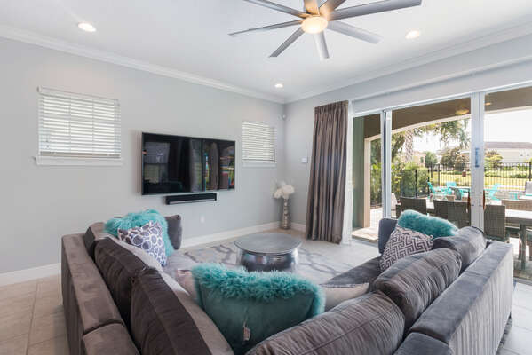 Enter into this beautiful home with an open living space and luxurious furnishings