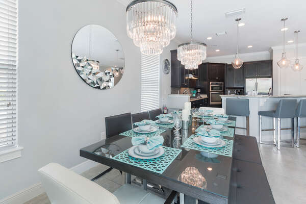 Enjoy family meals together at this beautiful table