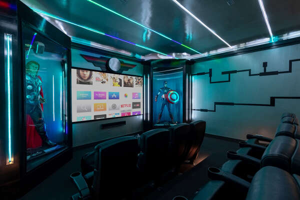 The theater room will be your favorite place to hang out and watch a movie