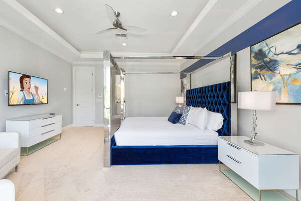 Relax in this Master Suite and watch TV on your own SMART TV