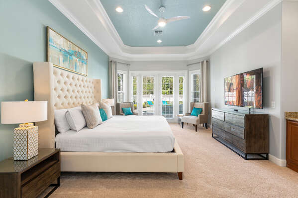This beautiful master suite is located on the first floor