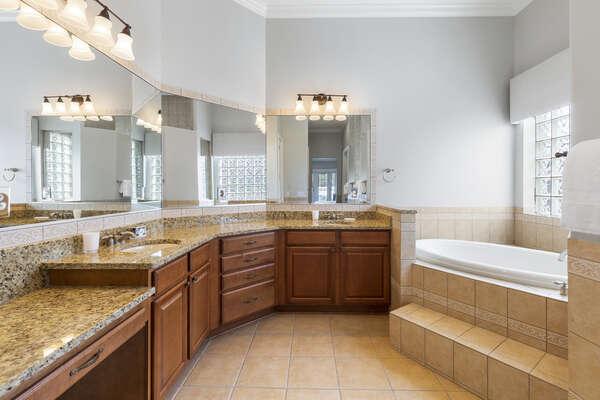 The beautiful ensuite master bathroom