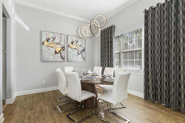 This gorgeous formal dining room is the best place to enjoy a meal together