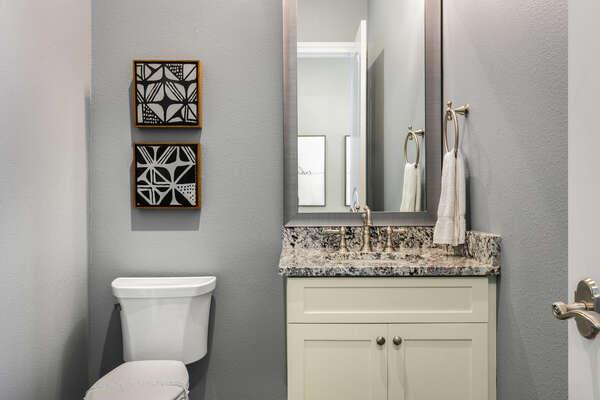 A half bathroom