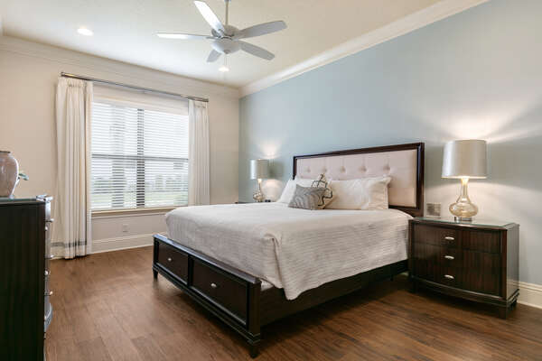 Master suite with king size bed, en-suite bathroom, and SMART TV