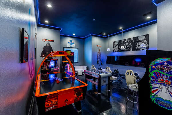 Spend long hours in the amazing games room