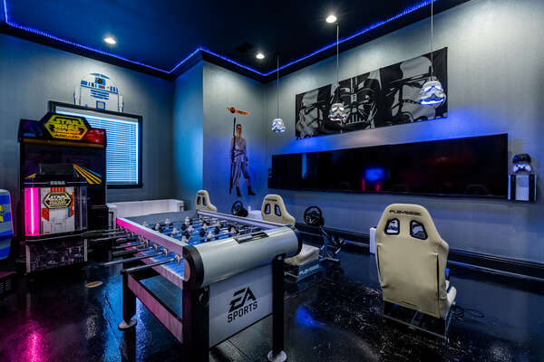 The games room allows you to play multi-player games with the SMART TV
