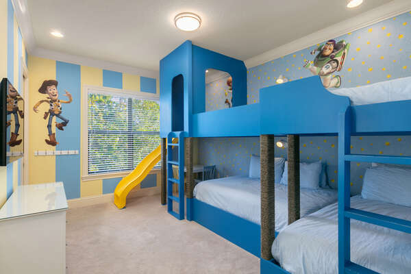 Kids will love this custom bedroom designed just for them!