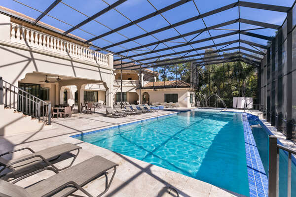 Enjoy your private Southern sun exposure pool