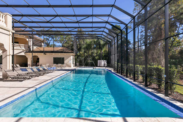 Enjoy every moment in the gorgeous Florida weather at this luxurious villa