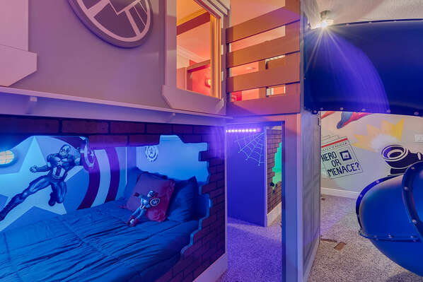 Kids won`t want to leave their fun bedroom