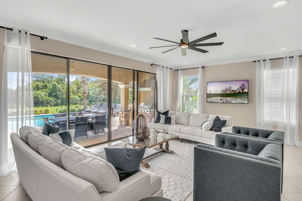 Head inside and be welcomed into luxury in an open living space
