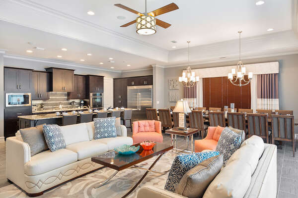 There is plenty of room for all with the large open floor plan