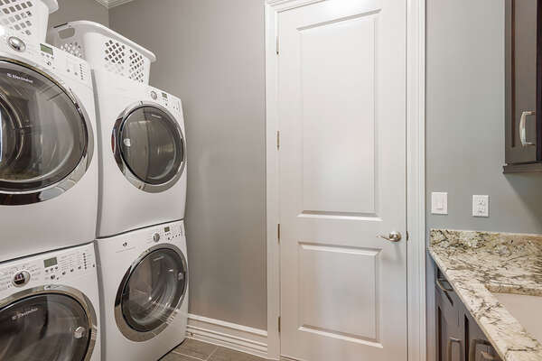 A laundry room for your convenience