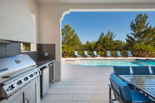 A summer kitchen to enjoy meals straight off the barbecue
