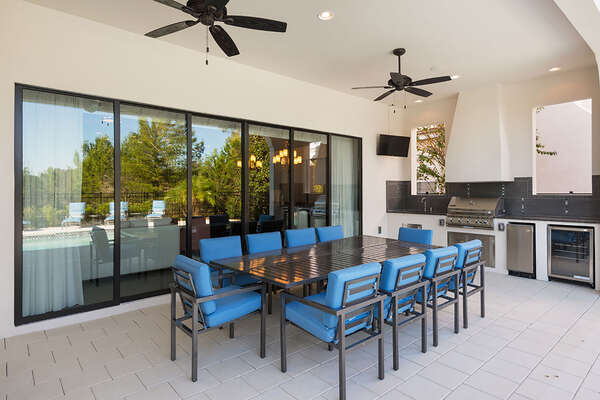 Enjoy your meals in the outdoor dining table to seat 10