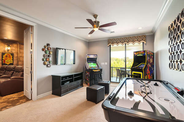 Play all day long in the games room located on the second floor