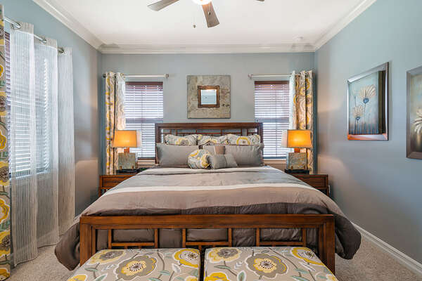 Master Suite 5 located on the second floor with a 32-inch TV and DVD Player