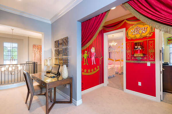 The kids will have a grand entry to their bedrooms