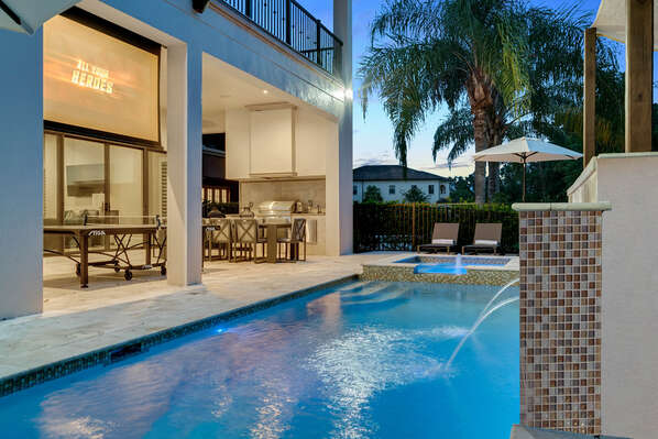 Enjoy your evenings by the pool area